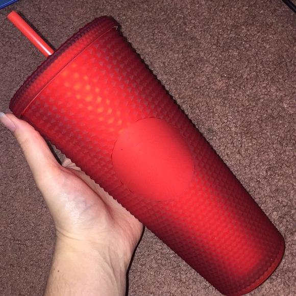 Red Studded Starbucks Tumbler